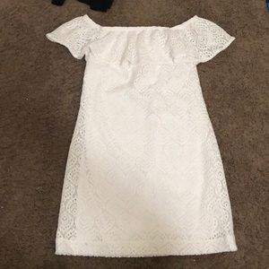 Lily Pulitzer white off shoulder dress